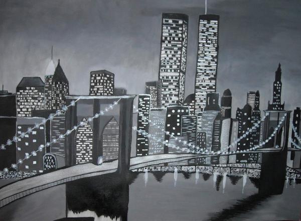 New york noir et blanc l 39 artiste - Cadre new york noir et blanc ...
