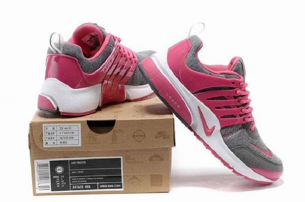 nike air presto frauen trainers running schuhe grau rosa. Black Bedroom Furniture Sets. Home Design Ideas